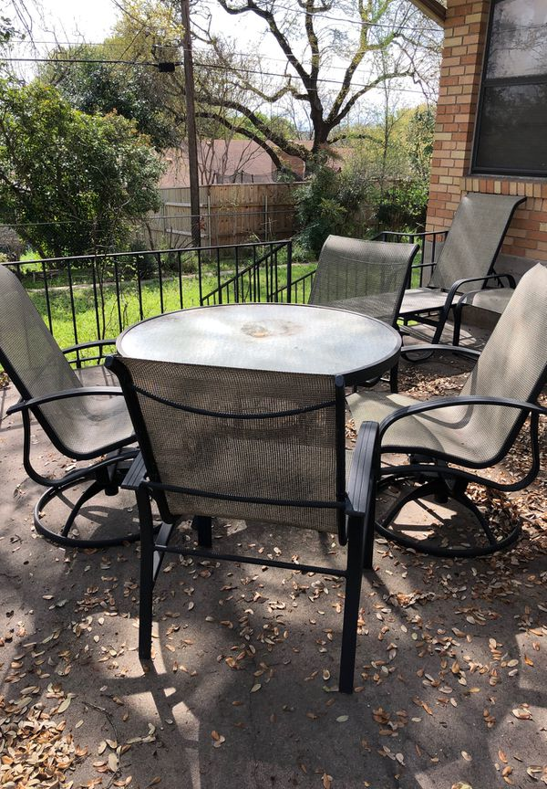 Astonishing Beautiful Set Of Patio Furniture All 8 Pieces For Sale In Austin Tx Offerup Interior Design Ideas Gentotryabchikinfo