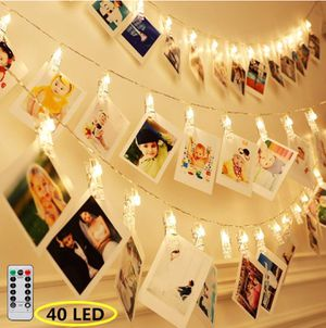 8 Modes 40 LED Photo Clip String Lights with Remote, Indoor Fairy String Lights for Hanging Photos for Sale in Alexandria, VA