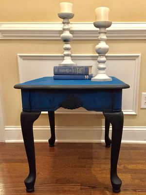 Blue and Black Table for Sale in New Hill, NC
