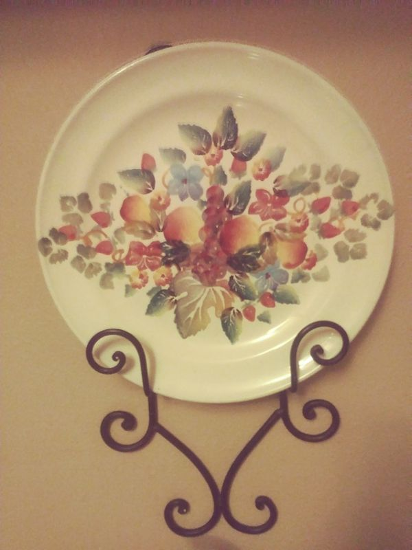 Hand painted porcelain serving platter wall decor (Household) in ...