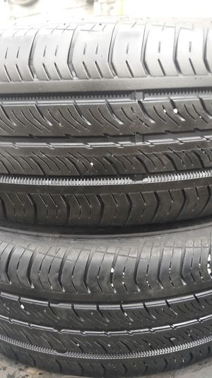 Photo 1 PAIR CONTINENTAL P195-65-15 PRO CONTACT TX 50 % TREAD FREE INSTALL