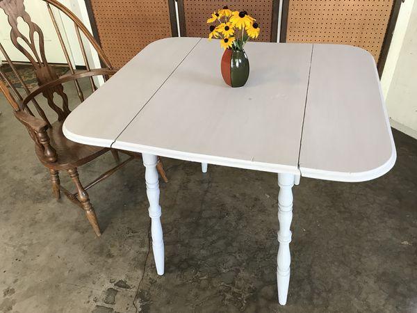 Gray Vintage Drop Leaf Table Pending For Sale In Edmonds Wa Offerup