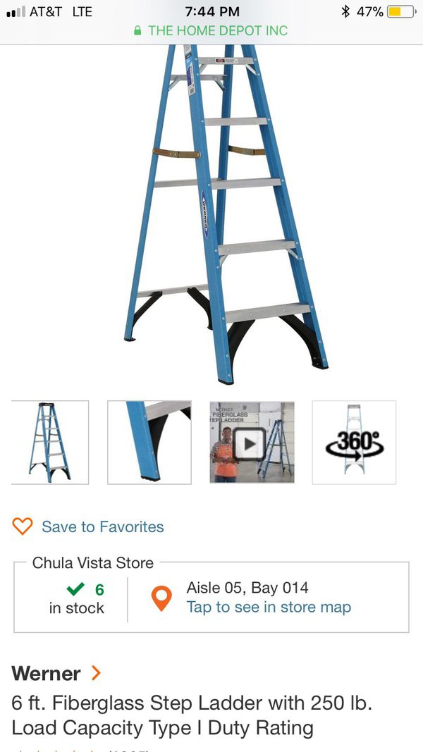6 ft. A frame ladder and a 16 ft. Ladder in great condition (Tools ...