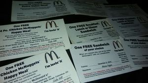 McDonald's coupon for Sale in Columbus, OH