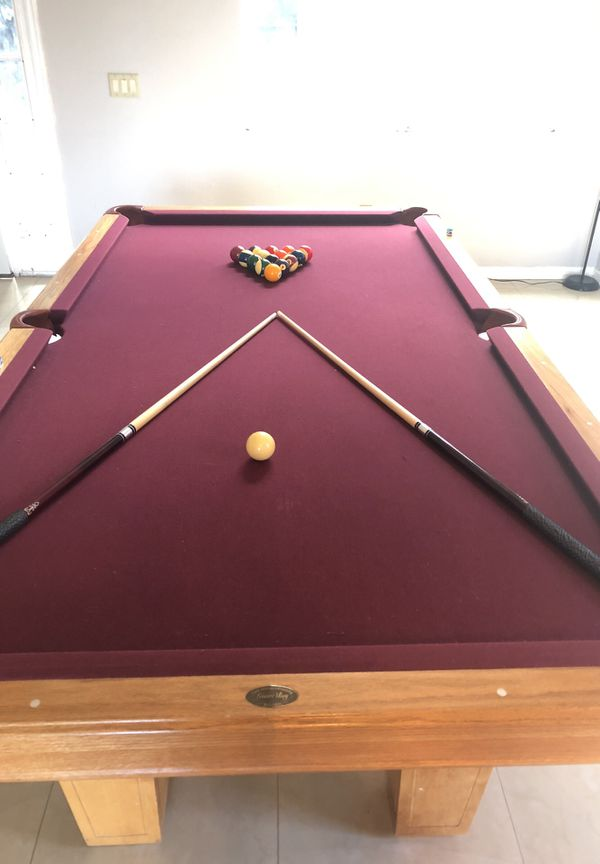 Free Pool Table We Are Moving Into A Smaller Home It Still Looks - Pool table moving equipment