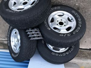 Rims 15 Chevy or gmc new tires for Sale in Houston, TX