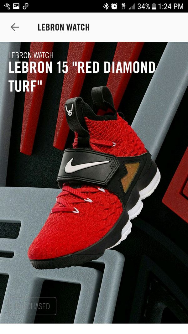 cheap for discount c0019 47292 Nike Air LeBron 15 Red Diamond Turf Size 9.5 for Sale in Fort Lauderdale,  FL - OfferUp