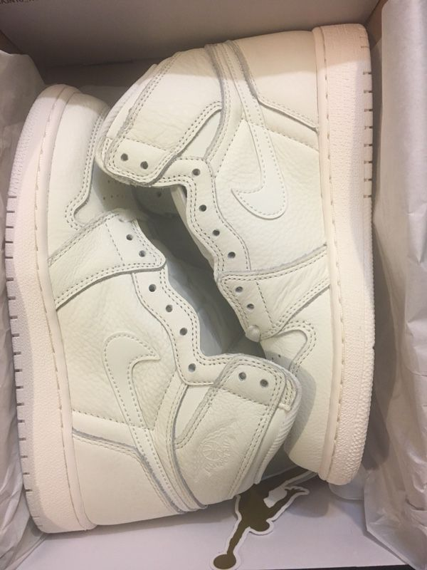 size 40 9c4f7 8f474 New air Jordan 1 retro high og sail shoe youth size 6 and 6.5