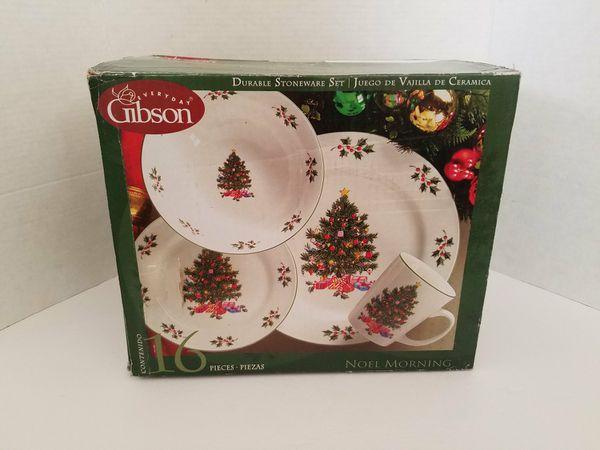 Gibson Noel Morning 16 Pc set New Christmas Dinnerware for Sale in ...