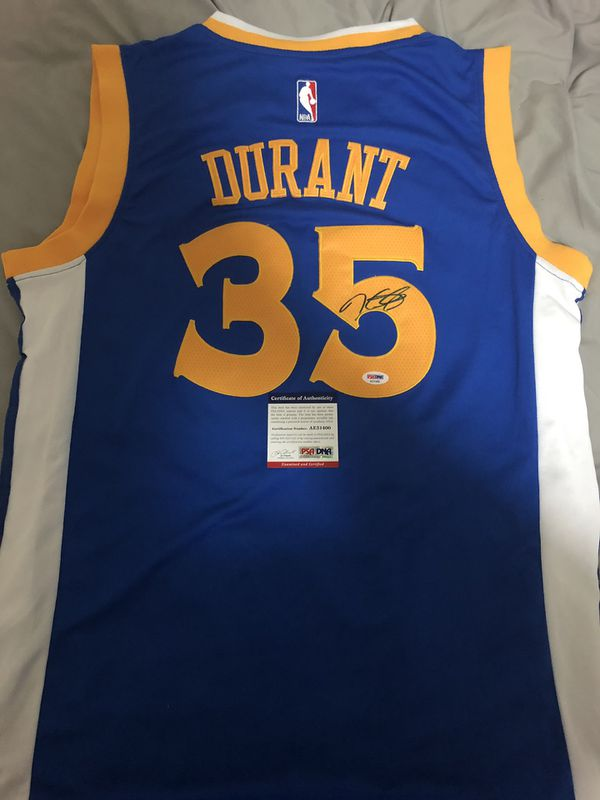 innovative design 0604d b8285 Kevin Durant signed autographed jersey with PSA/DNA COA Warriors Champs  Curry KD Klay for Sale in Pleasanton, CA - OfferUp