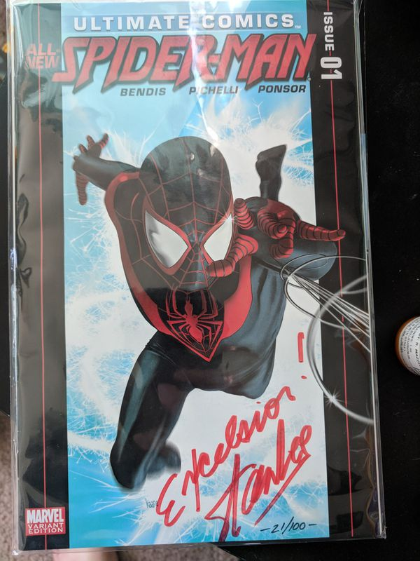 Ultimate Spider Man 1 Signed By Stan Lee Exclusive Variant 21 100 For Sale In Seattle WA