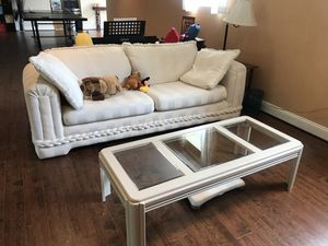 Sofa + coffee table for Sale in Leesburg, VA