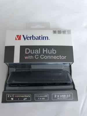 Verbatim dual hub with C connector for MacBook Pro / Macbook for Sale in Miami, FL