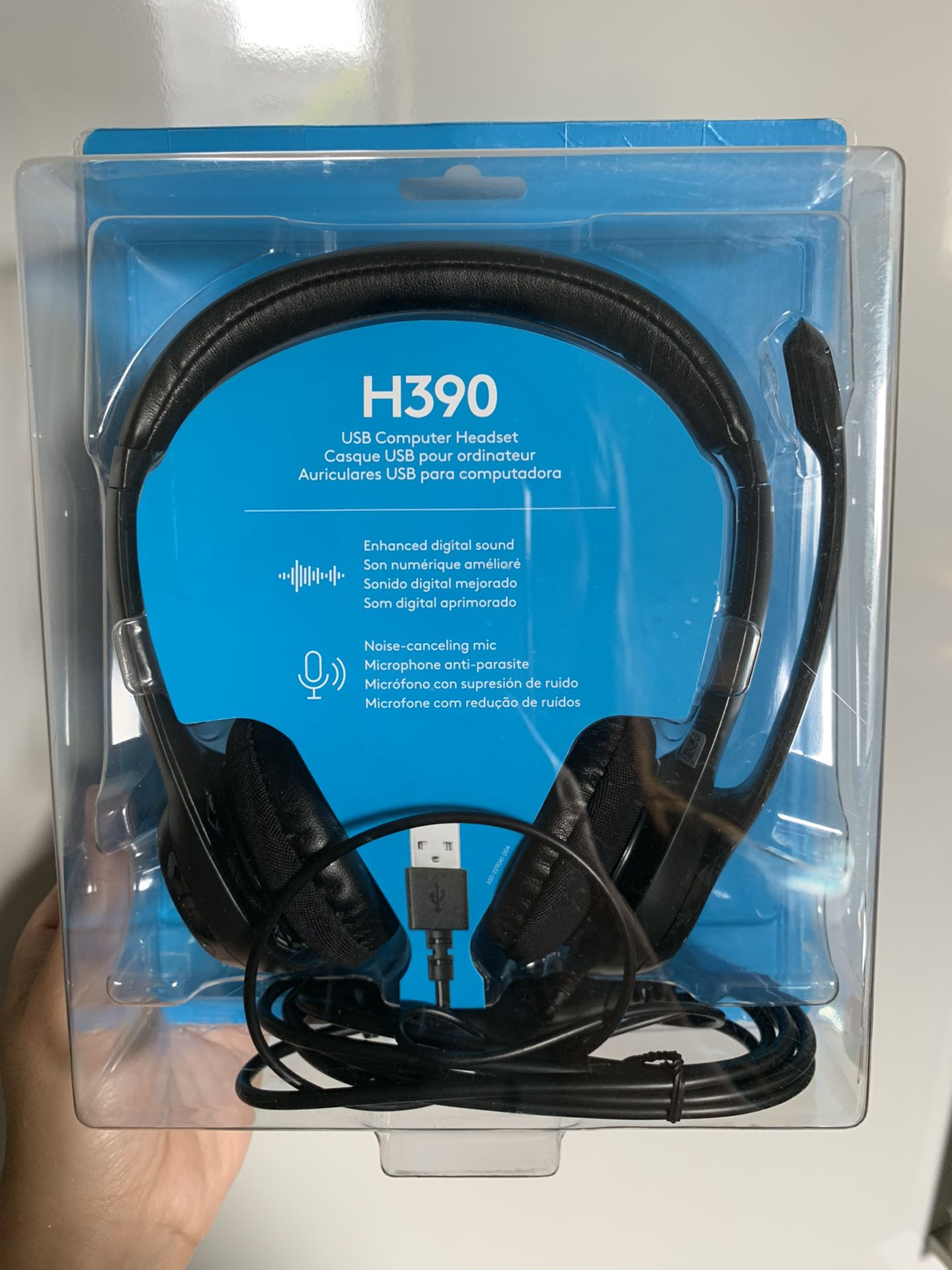 Logitech H390 USB Computer Headset (BRAND NEW) w/ Noise-cancelling Mic