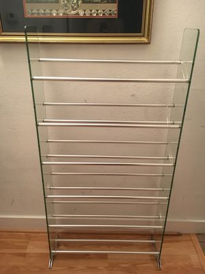 Glass CD/DVD/VHS Rack, TransDeco for Sale in Austin, TX
