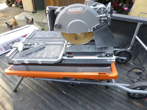 Used Ridgid 10 In Wet Tile Saw With Stand For Sale In Calabasas Ca