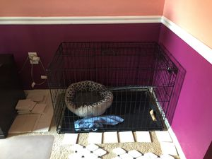 Dog crate very big with separated gate for Sale in Gaithersburg, MD