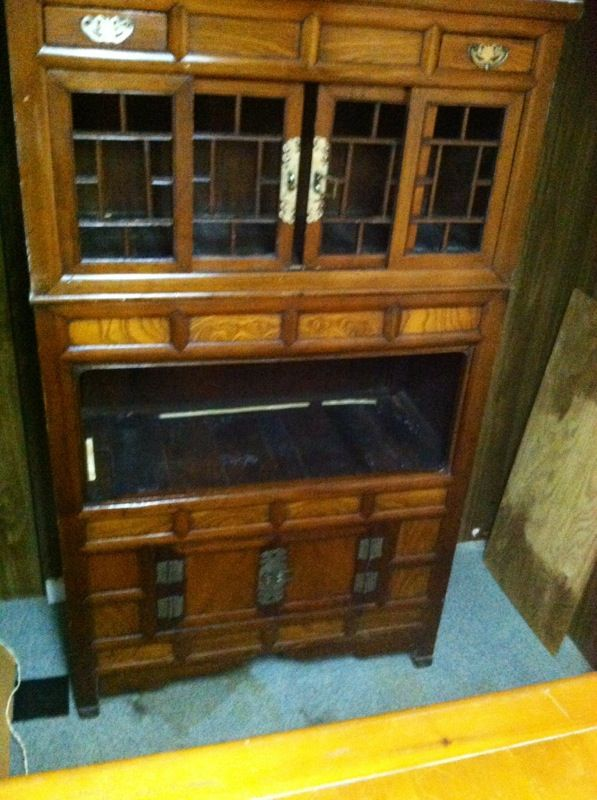 Antique teak wood china hutch for Sale in Little Rock, AR - OfferUp