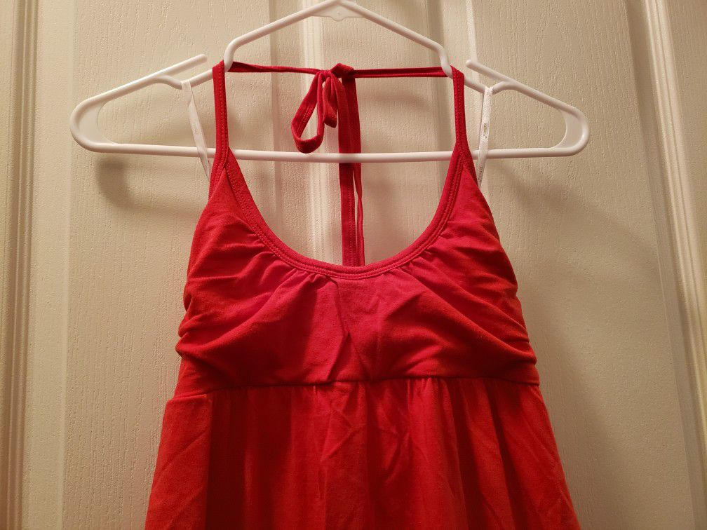 Red Halter Top