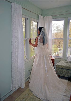 Alfred Angelo ivory lace wedding dress for Sale in Louisa, VA