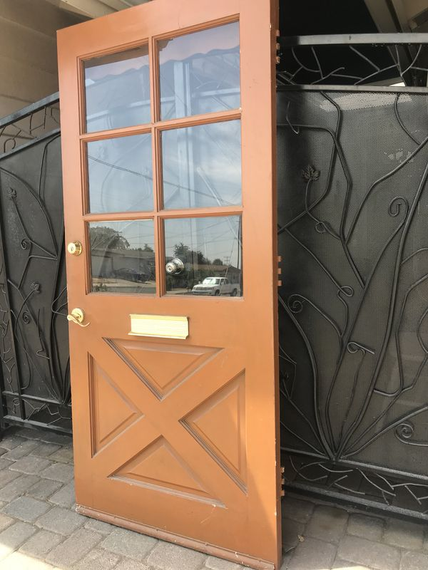 Exterior Wood Glass Front Door 36 X 78 12 For Sale In San Diego Ca