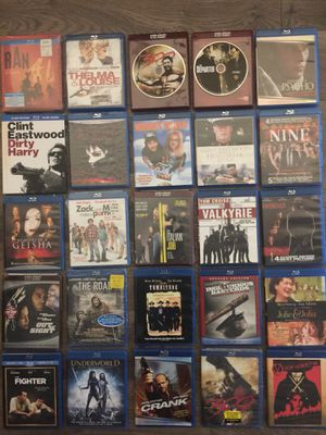 Blu-ray Lot - 125+ Blu-ray DVDs all in excellent condition for Sale in Rockville, MD
