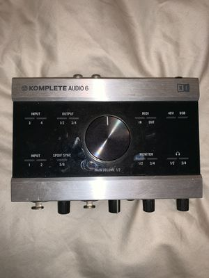 KOMPLETE 6 USB Audio Interface with Recording for Sale in San Francisco, CA