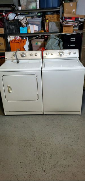 Photo Maytag Centennial Washer And Electric 220 Volt Dryer