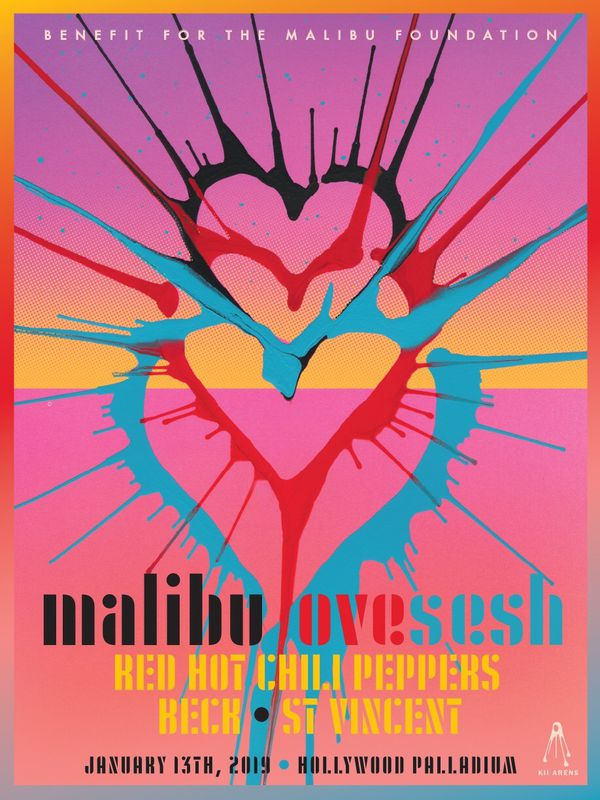 Red Hot Chili Peppers Poster Malibu Love Sesh 01 13 For Sale In Los