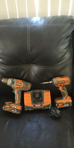 RIDGID 18v Inpac Drill Hammer Drill With Chager for Sale in Silver Spring, MD
