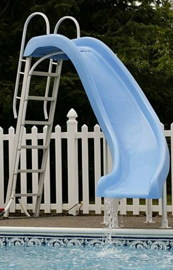 Blue fiberglass pool slide for sale in austin tx offerup - Used swimming pool slides for sale ...