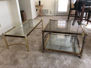 Glass living room and end Tables for Sale in Fairfax, VA