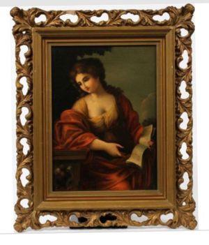 Antique Oil Painting Listed Artist Enrico de Luise (1840-1915) for Sale in Nashville, TN
