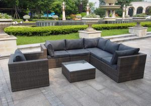 End of season sale!!!7 pc sectional wicker outdoor furniture for Sale in Baltimore, MD