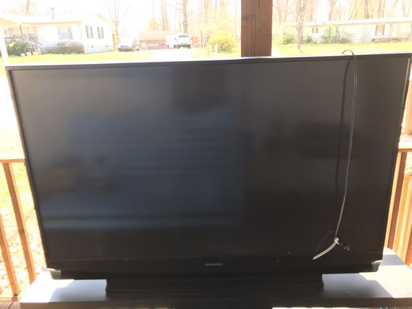 55 Inch Mitsubishi Tv Good For Gaming Movies And Tv Shows For Sale