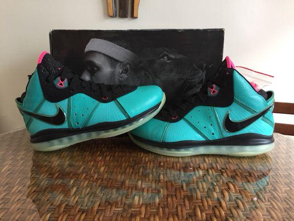 detailed look 5c847 1cfcf Nike lebron south beach 8 sz 9.5 100% authentic