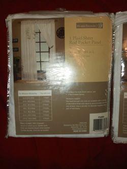Hometrends Plaid Sheer Rod Pocket Panel Thumbnail