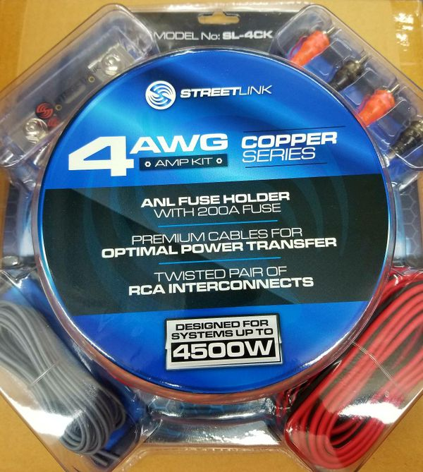 STREET LINK 4 GAUGE 100% COPPER AMP KIT for Sale in Irving, TX - OfferUp