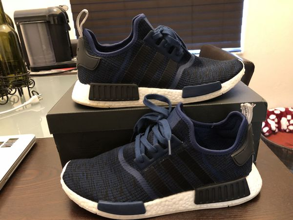 ef9d67281 Men s ADIDAS NMD R1 BA2775 Mystery Blue   Core Black - Collegiate Navy Shoes  Size 12 Used w  Box