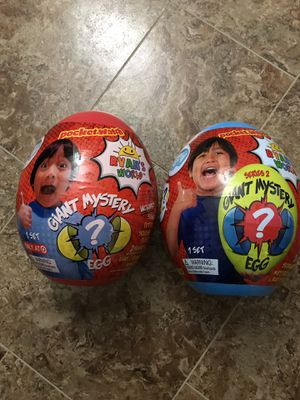 Ryan's works giant mystery eggs (Target&walmart) for Sale in Fairfax Station, VA