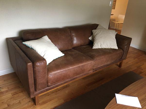 Dekalb Leather West Elm Sofa
