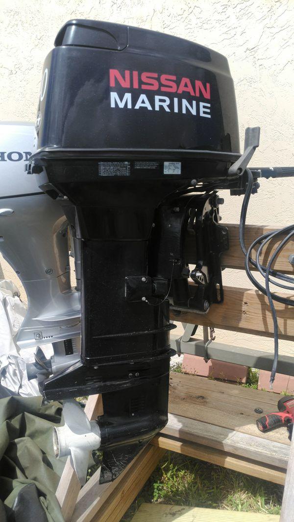 Nissan 40hp 40 HP Outboard Motor 2 -Stroke Oil & Fuel Injected Tiller w/  Trim n Tilt Elecric Start !! for Sale in Pompano Beach, FL - OfferUp