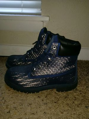 Navy blue timberland boots for Sale in Nashville, TN