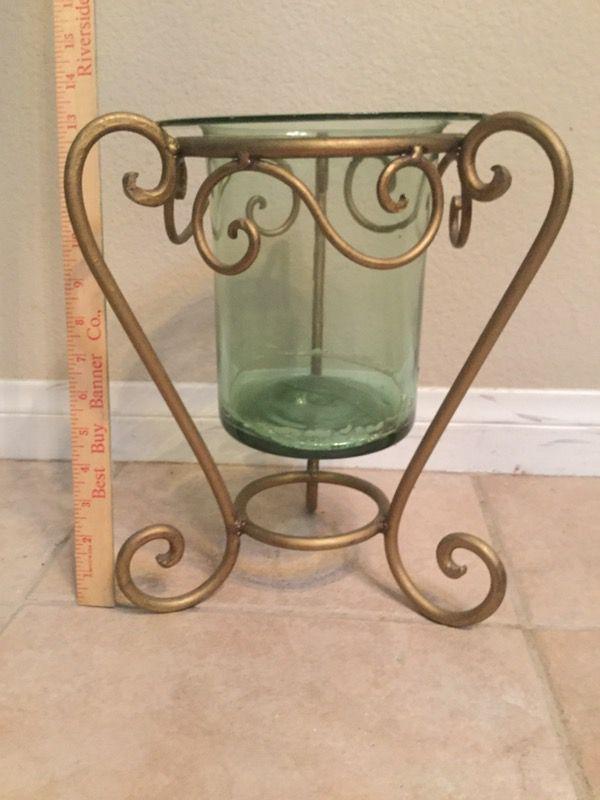 Glass vase or candleholders