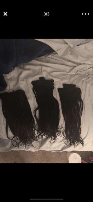 Clip in 1b human hair for Sale in Scottsdale, AZ