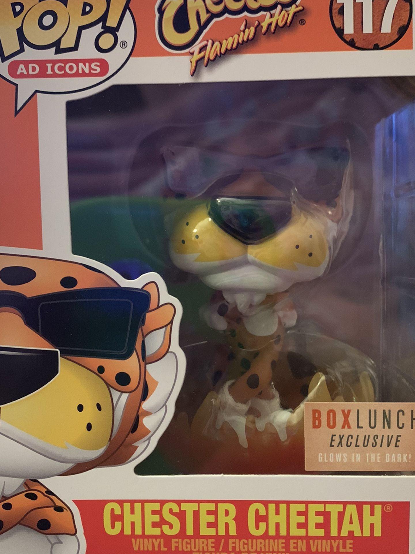 Flaming hot Chester Cheetah Funko Boxlunch Pop