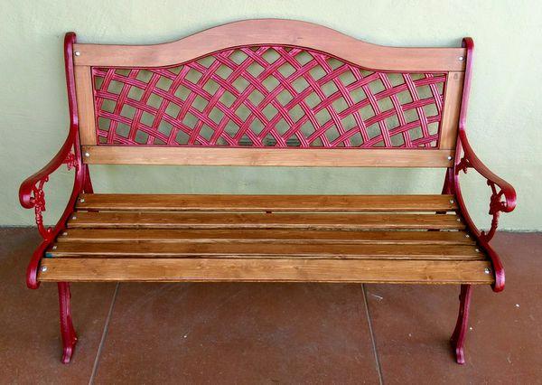Sensational Vintage Cast Iron Garden Bench Restored For Sale In Pdpeps Interior Chair Design Pdpepsorg