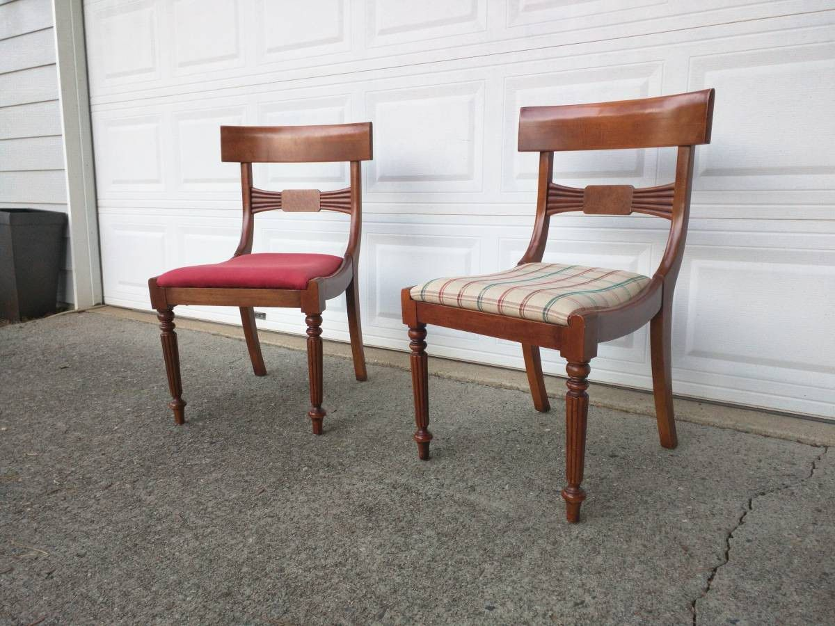 Pair chairs by Milling Road - A Division Of Baker Furniture (High End)