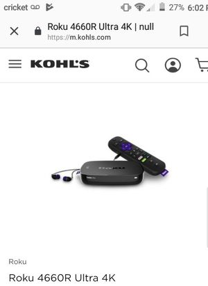 Roku 4 hdr brand new for Sale in Peoria, AZ