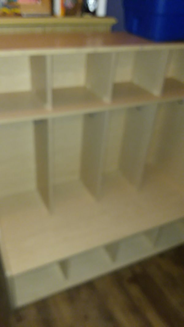 Four Section Coat Locker With Bench